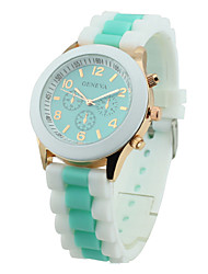 Women's Watch Candy Color Silicone Strap