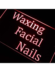 m114 Waxing Facial Nails Beauty Salon Neon Light Sign