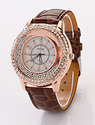 Cdong Fashion Diamond Ladies Watch (Coffee)