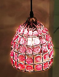Chandelier Pink Glass Iron Lamp Frame E26/E27 Mediterranean Style  Hand-Knitted In Nepal