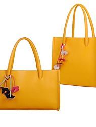 Women's  Handbags Japanese Sweet Candy Contrast Color Vintage Commuting Shoulder Bags  Transverse Tote