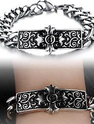 Cool New European And American Wind Creative Cross Titanium Steel Men's Bracelet