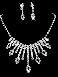 Wedding/Bridal Rhinestone crystal necklace earring Sliver