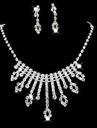 Wedding/Bridal Rhinestone crystal necklace earring Sliver