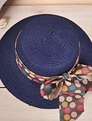 Европа и волны Точка бантом Пароход мс Лето Соломенная шляпка ВС Hat предотвращается Bask в пляж шляпа