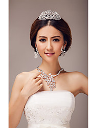 Jewelry Set Women's Wedding / Special Occasion Jewelry Sets Alloy Imitation Pearl Necklaces / Earrings / Tiaras As the Picture