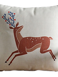 clássico pintado veado correndo fronha decorativa vívida bonito