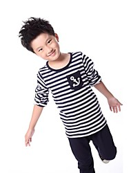Boy's Cotton Blend Clothing Set,Summer Striped