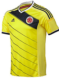 2014 World Cup World Cup Jerseys Columbia Home Game Yellow (Climacool)
