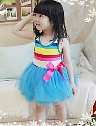 Girl's Black / Blue / Pink / Red / White / Yellow Dress Cotton Summer / Fall
