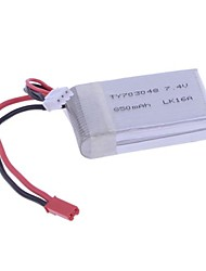 7.4V 850mA Lipo Battery for 2.4G 4CH V912 V912-21 Single-Blade RC Helicopter