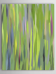 Hand Painted Oil Painting Abstract Green Grass with Stretched Frame