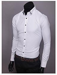 Einfache Solid Color dünnes Hemd GEZI Männer (Weiß, Schwarz, Hellblau, Pink)