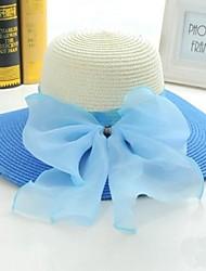 Sapphire Blue бантом Пароход Зонт Hat женская модель Джокер предотвращается Bask в пляж шляпа