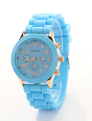 Cdong Korean Sports Silicone Watch (Sky Blue)