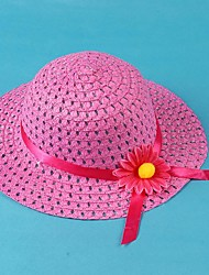 Children's Ventilate Sunflower Ribbon Beach Elastic Band Straw Hat
