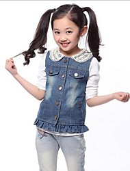 Girl's Denim Vest , Summer Sleeveless