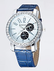 Womage  Women's Fashion Diamond Watch (Dark Blue)