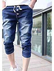 Men's Straight  Cropped Jean