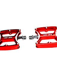 VEETOKA 1 paire en alliage d'aluminium 2 Roulements VTT / vélo de route Pédales - Rouge