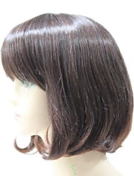 Capless Synthetic Brown  Synthetic Hair Full Wig