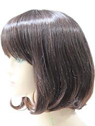 Capless sintético Brown cabelo sintético peruca completa