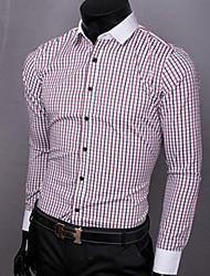 Camicia moda Fashion plaid degli uomini