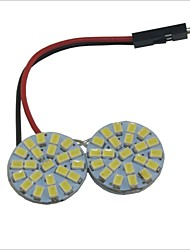 Carking™ T10 / BA9S / Festoon 1210-44SMD Car Round Dome Lamp White Light (12V/Piece)