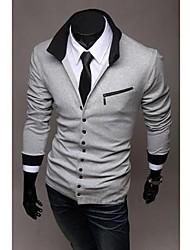 Polo (Schwarz / Weiß / Grau , Baumwolle) - für Freizeit / Büro / Formal - für MEN - Einfarbig - Lang