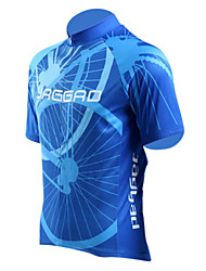 JAGGAD Cycling Tops / Jerseys Men's Bike Breathable / Quick Dry Short Sleeve Polyester / Elastane Stripe Blue S / M / L / XL / XXL
