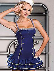 Cool Girl tinta azul Cotton Uniform Naval