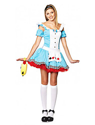 Lovely Alice Girl Blue Polyester Women's Halloween Costume