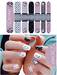 DF COLOR Manicura Suministros Nail Sticker Manicura Calcomanías (D1042)