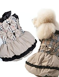 Bow Checkered Skirt for Pets Dogs