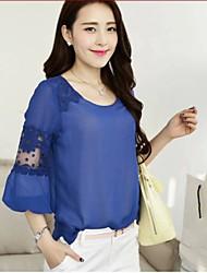 Dentelle sauvage manches courtes de style coréen t-shirt bas de JIANFANSU femmes