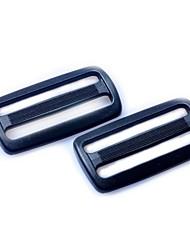 Heavyduty plastique Triglide Diapositives 50mm - Noir (2-pièces Pack)