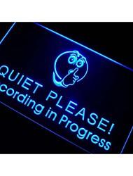 Recording in Progress Quiet Please Neon Sign