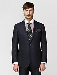 Dark Blue Tailored Fit Two-Piece Suit