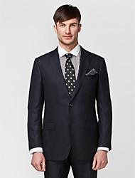 azul oscuro adaptado ajuste traje de dos piezas