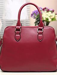 INLEELA Fashion Simple One Shoulder Handbag (Wine)