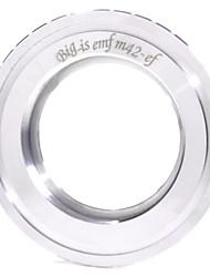 Bigis Lens pour Canon EOS Monture Adapter Ring - Argent (37mm) - Argent