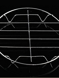 Rodada de aço inoxidável que cozinha rack