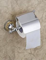 Contemporary Style Chrome Finish Bathroom  Brass Roll Holder