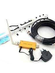 Mini W-CDMA 2100MHz del teléfono móvil 3G Amplificador de señal, W-CDMA 3G repetidor de señal + Omni Antena + Antena Yagi con cable de 10m
