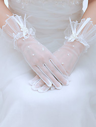 Wrist Length Fingertips Glove Tulle Bridal Gloves/Party/ Evening Gloves