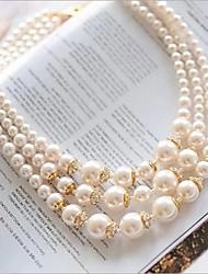 Champagne Pearl Necklace européen classique Strands (1 PC)