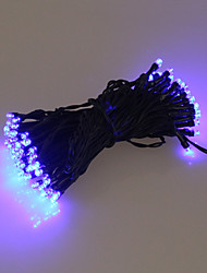 60 Bleu extérieur à LED solaire Guirlande lumineuse de Noël Cadeaux Lampe Décor