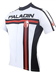 ILPALADINO Cycling Jersey Men's Short Sleeve Bike Jersey Tops Quick Dry Ultraviolet Resistant Breathable 100% Polyester Spring Summer