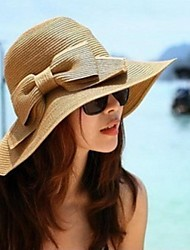 Women's Fashion Bowknot Collapsible Beach Hat