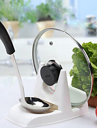 Plastic White Pot Cover and Spoon Rack